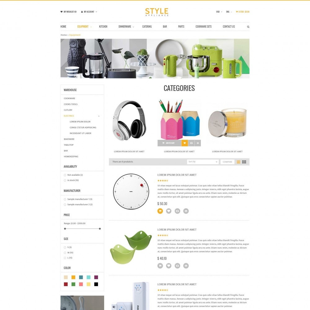 theme - Dom & Ogród - Kitchen & Home Appliances Responsive PrestaShop Theme - 3