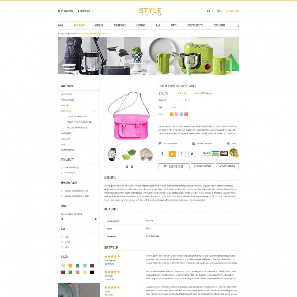 theme - Dom & Ogród - Kitchen & Home Appliances Responsive PrestaShop Theme - 4