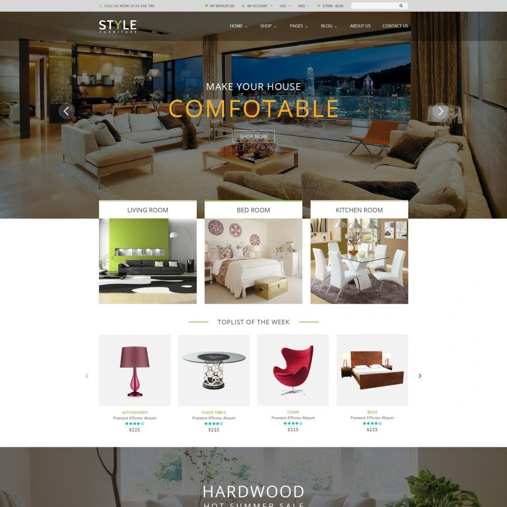 theme - Дом и сад - Responsive Furniture & Interior PrestaShop Theme - 1