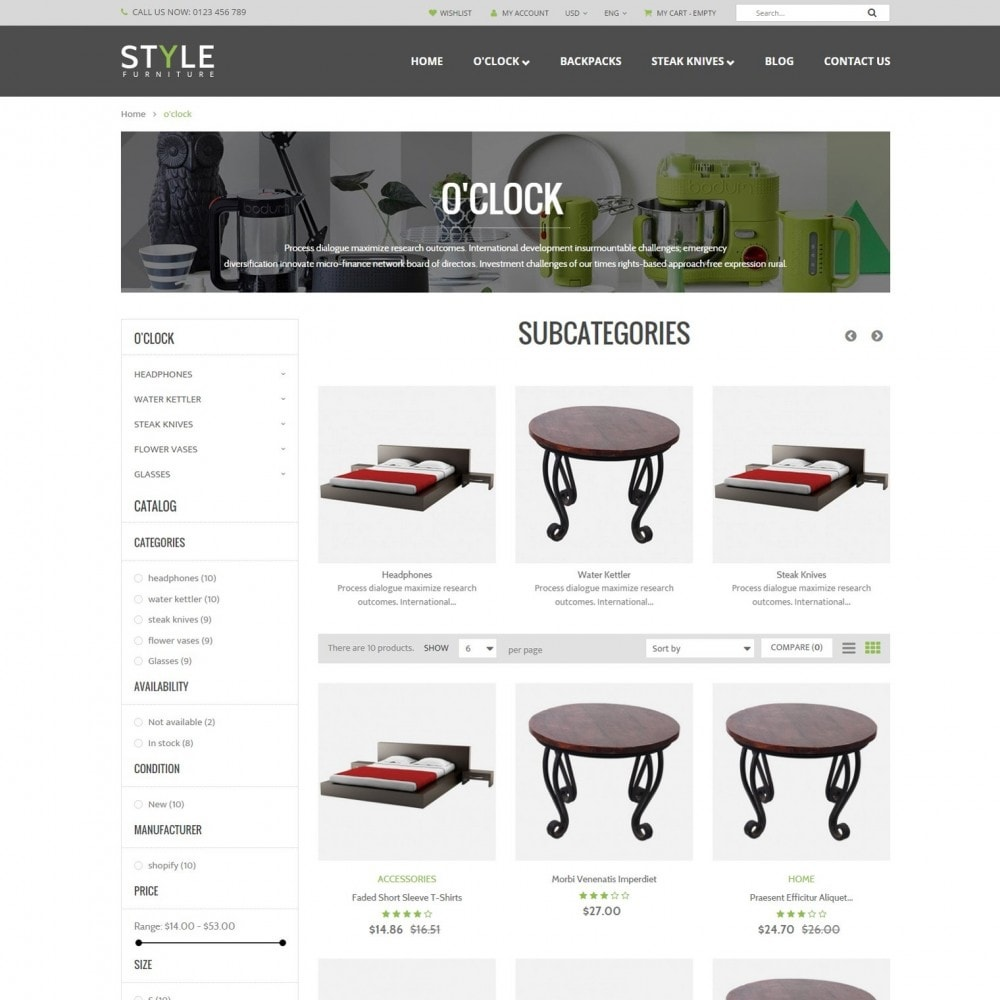 theme - Huis & Buitenleven - Responsive Furniture & Interior PrestaShop Theme - 2