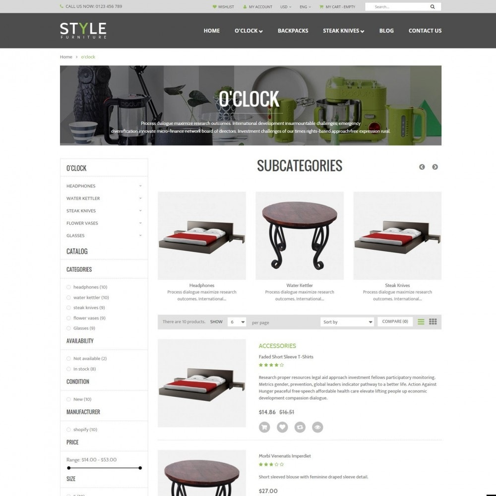 theme - Дом и сад - Responsive Furniture & Interior PrestaShop Theme - 3