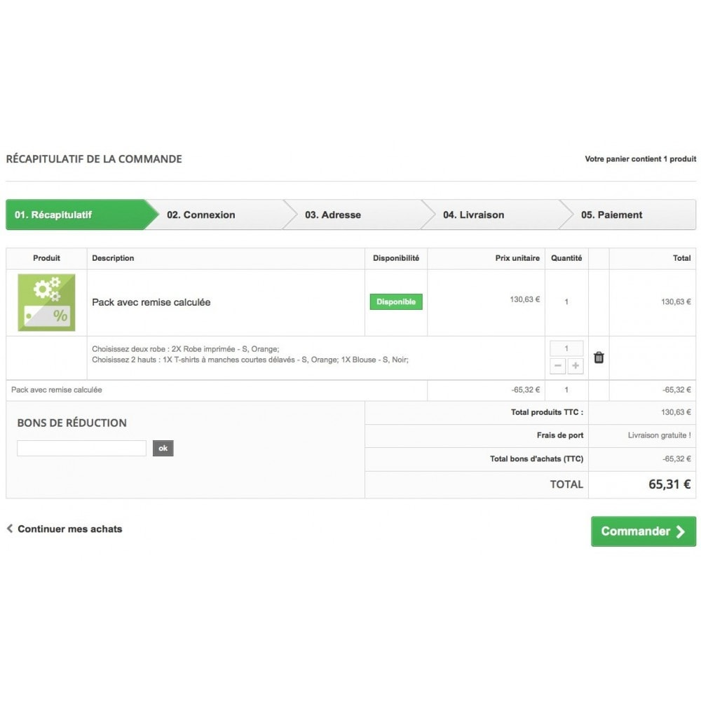 module - Ventes croisées & Packs de produits - Packs produits par étapes - 9