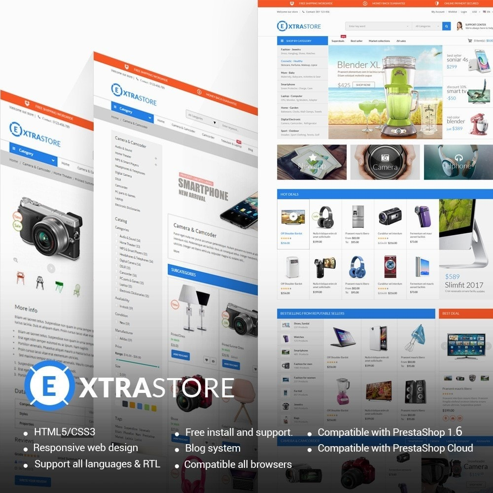 theme - Elektronik & High Tech - ExtraStore - Houseware Responsive PrestaShop Theme - 1