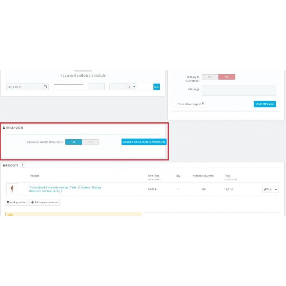 module - Kundenverwaltung - Kunden-Login - 1