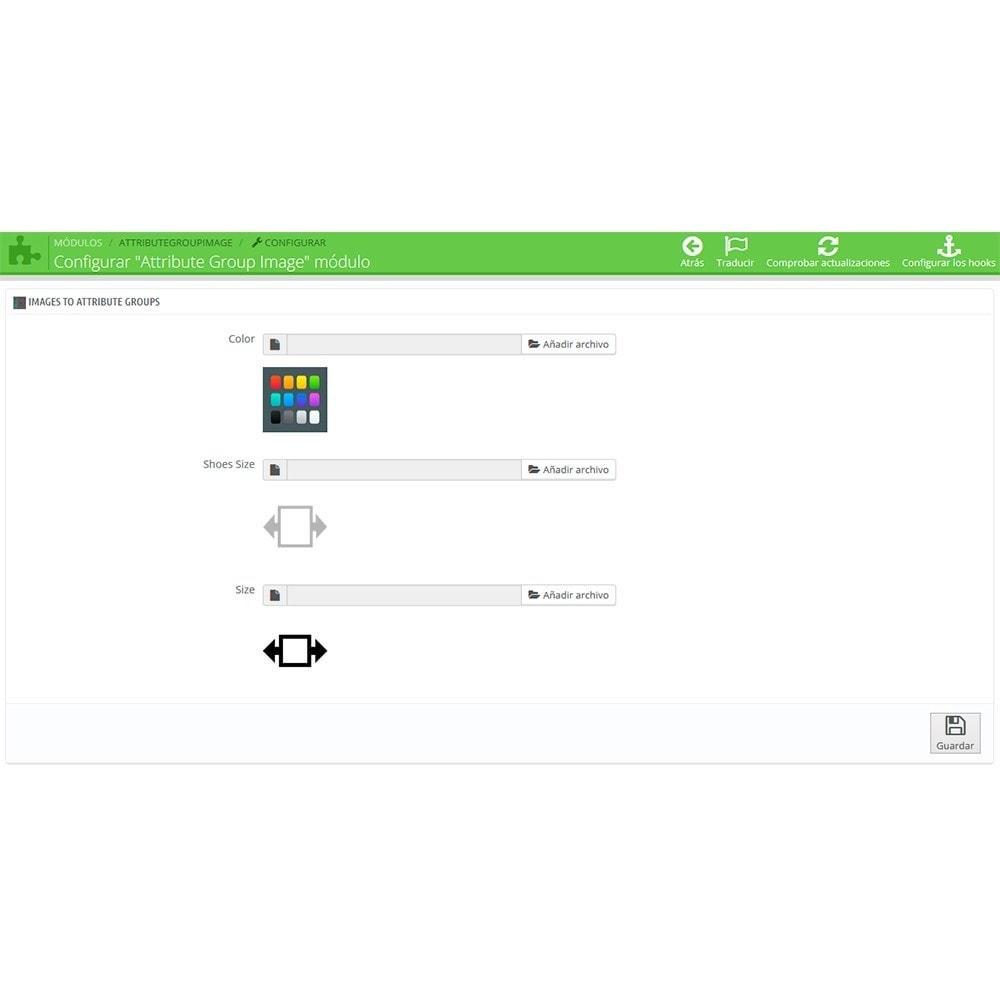 module - Combinaciones y Personalización de productos - Imágenes para grupos de atributos - 3
