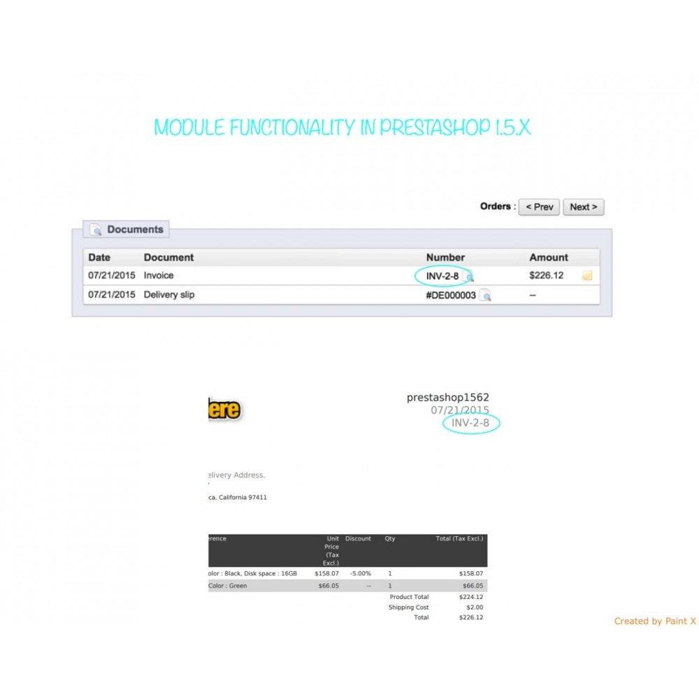 module - Boekhouding en fakturatie - Custom Invoice Reference Number,Edit and Remove Invoice - 8