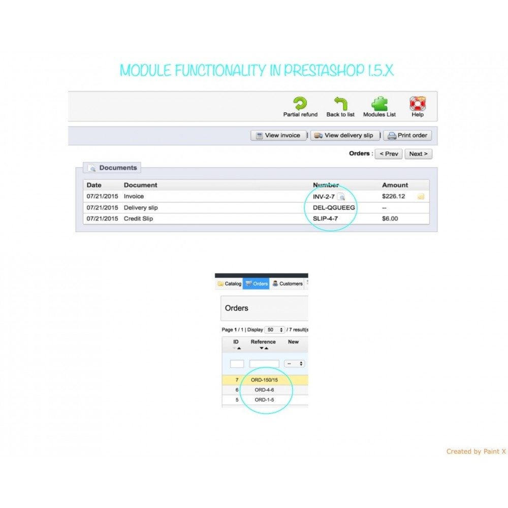 module - Comptabilité & Facturation - Custom number-orders,invoices,delivery and credit slips - 8