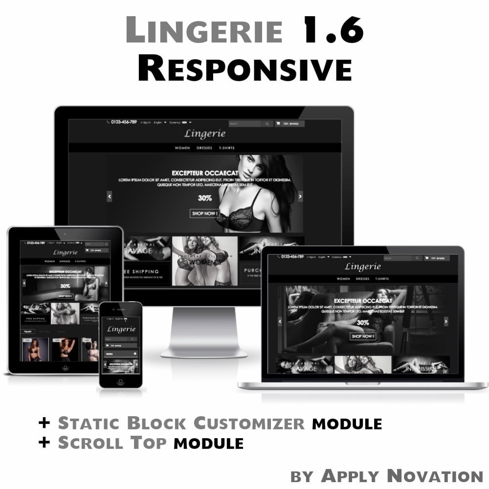 theme - Lingerie & Adulti - Lingerie 1.6 Responsive - 1