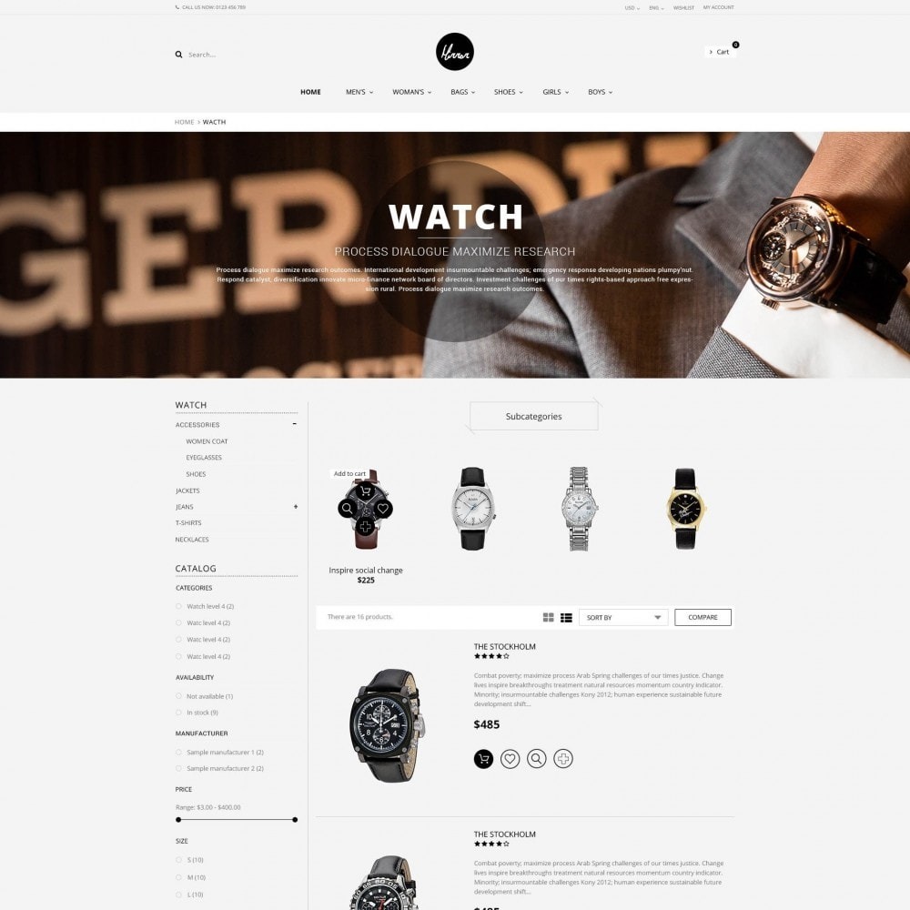 theme - Sieraden & Accessoires - Men Watches Minimal Responsive PrestaShop Theme - 3