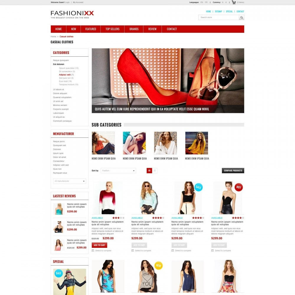 theme - Moda & Calçados - Fashion Store PrestaShop Theme - ET Fashionixx - 2