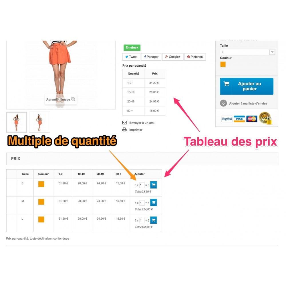 module - Déclinaisons & Personnalisation de produits - FO Prix quantité&déclinaison, quantités multiple - 5