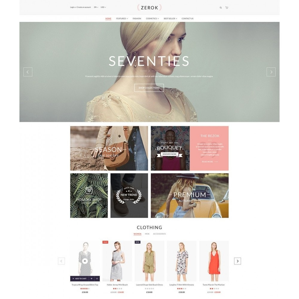 theme - Mode & Schuhe - Zerok - Fashion Store PrestaShop Theme - 2