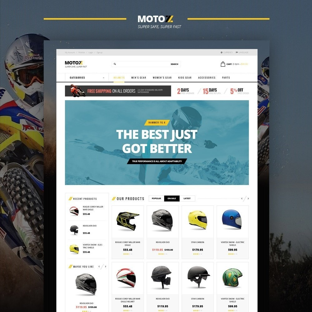 theme - Desporto, Actividades & Viagens - Leo Moto Prestashop 1.6 and 1.7 Theme - 2