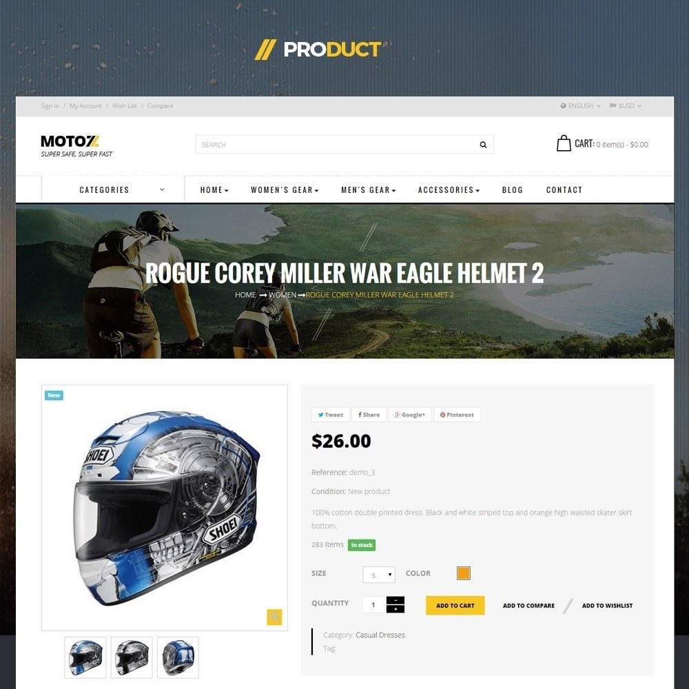 theme - Sports, Activities & Travel - Leo Moto Prestashop 1.6 and 1.7 Theme - 4