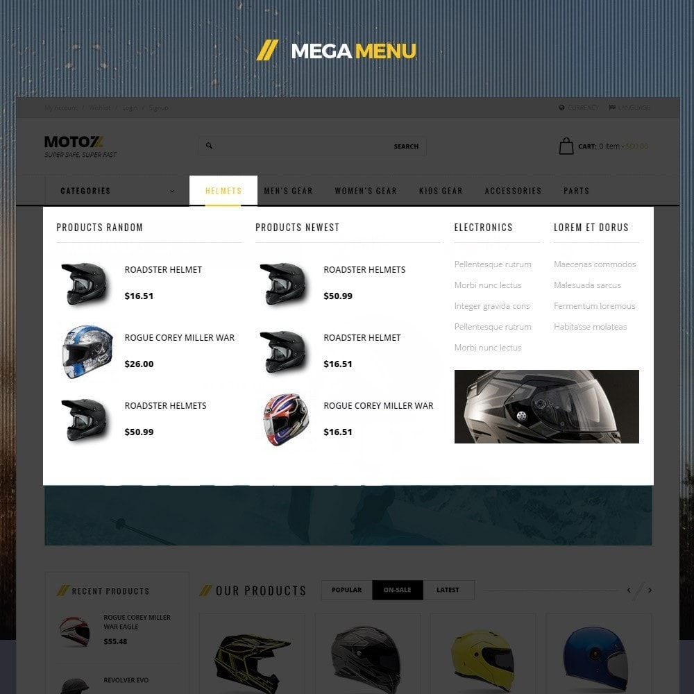 theme - Desporto, Actividades & Viagens - Leo Moto Prestashop 1.6 and 1.7 Theme - 8