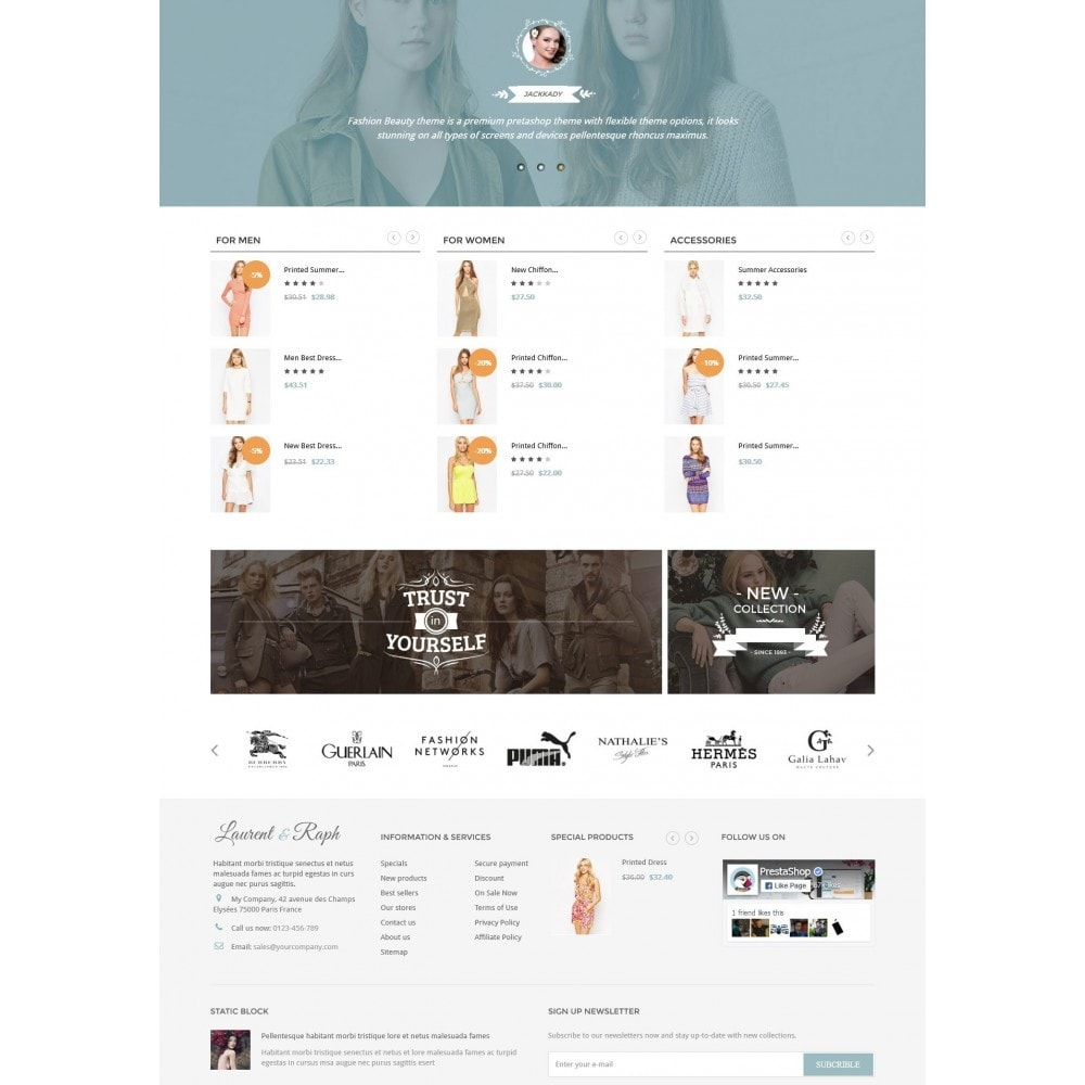 theme - Mode & Schuhe - L&R Fashion Store Responsive PrestaShop Theme - 3