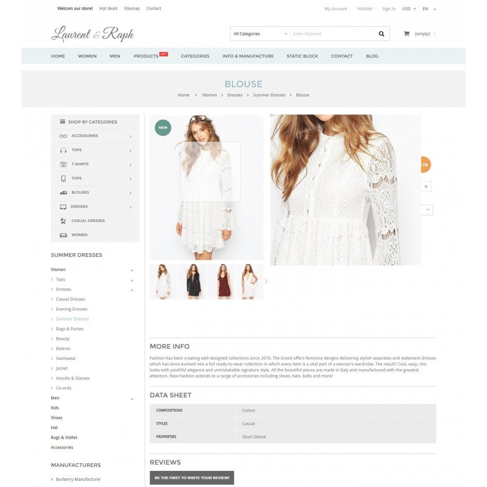 theme - Mode & Schuhe - L&R Fashion Store Responsive PrestaShop Theme - 6
