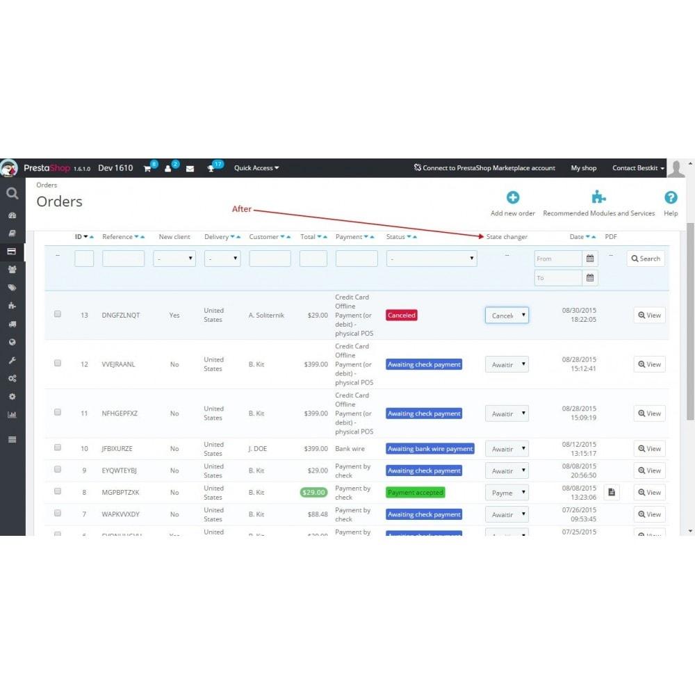 module - Szybkie & Masowe edytowanie - Quick order status update / Fast status change - 3