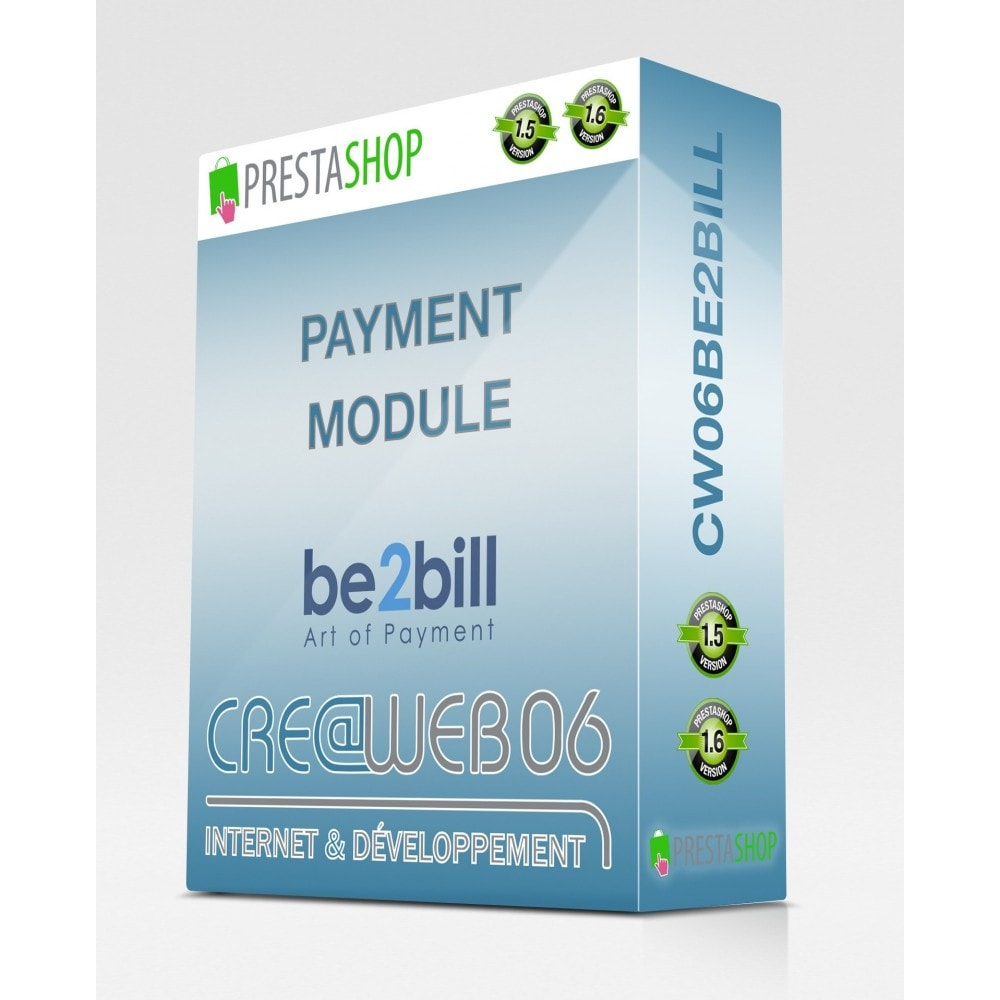 module - Zahlung per Kreditkarte oder Wallet - Be2Bill cash and multiple payments 1x, 3x, ... - 1