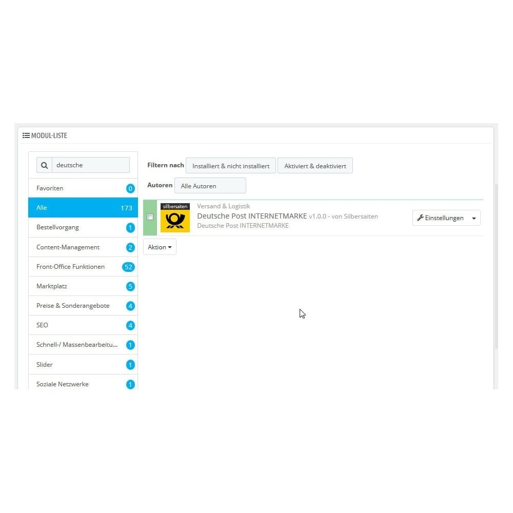 module - Vervoerder - Deutsche Post PrestaShop Connector - 1