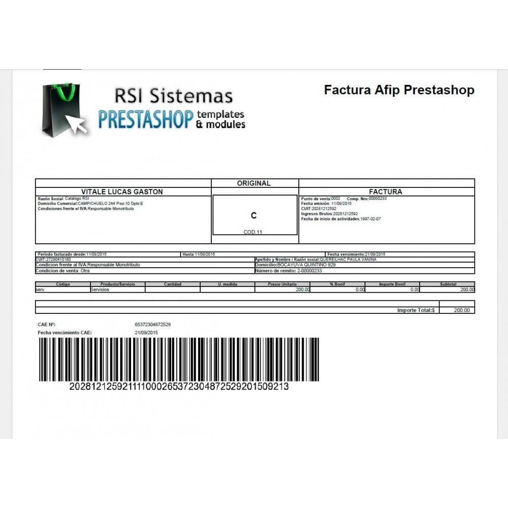 module - Contabilidad y Facturas - PrestAfip - Electronic Invoice for AFIP - 3
