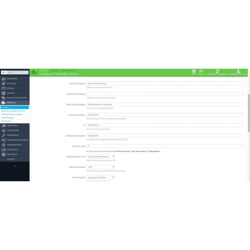 module - Contabilidad y Facturas - PrestAfip - Electronic Invoice for AFIP - 7
