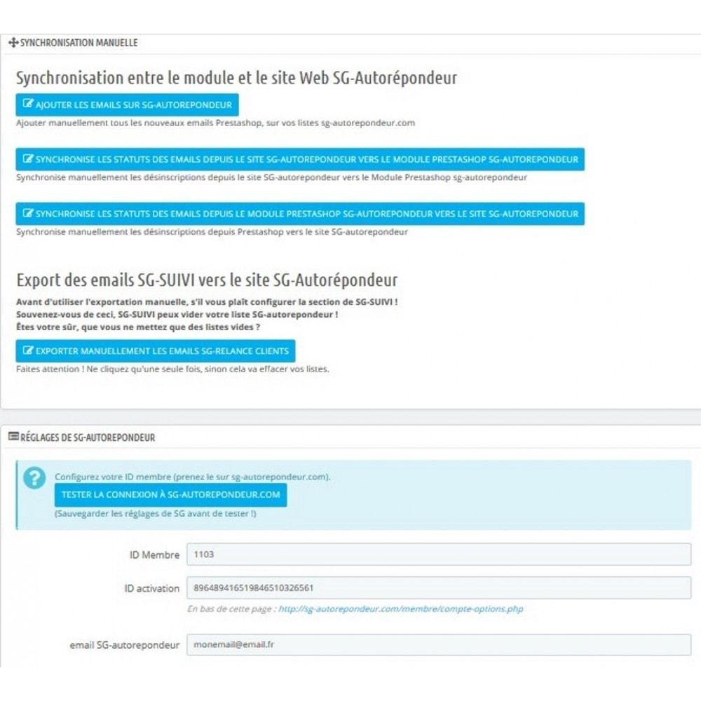 module - Connexion à un logiciel tiers (CRM, ERP...) - sgautorepondeur - 1