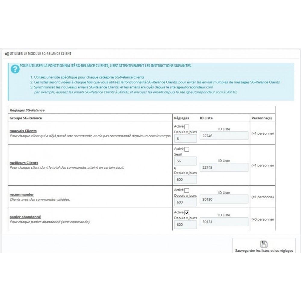 module - Connexion à un logiciel tiers (CRM, ERP...) - sgautorepondeur - 3