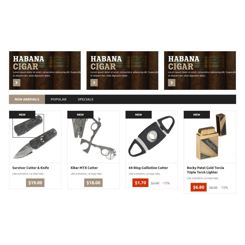 theme - Drink & Wine - Cigar Store 1.6 Responsive - 4