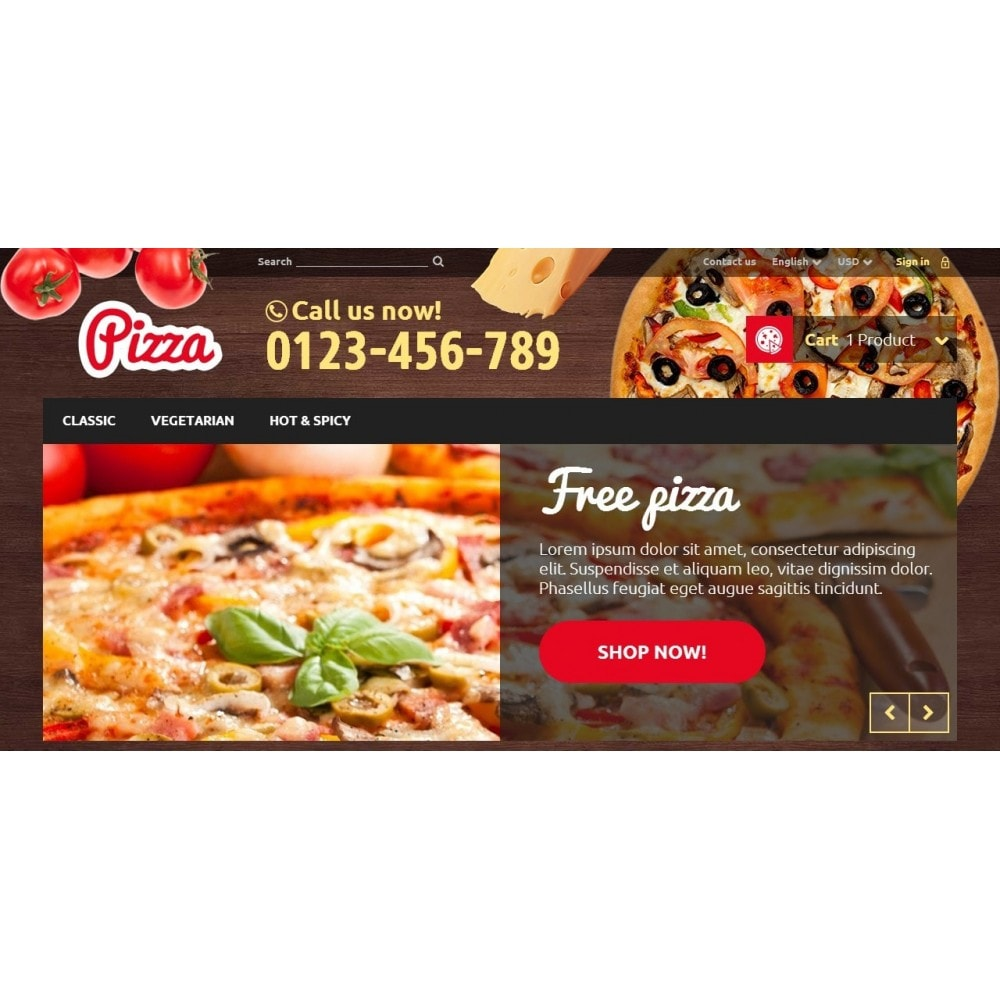theme - Alimentos & Restaurantes - Pizza - 3