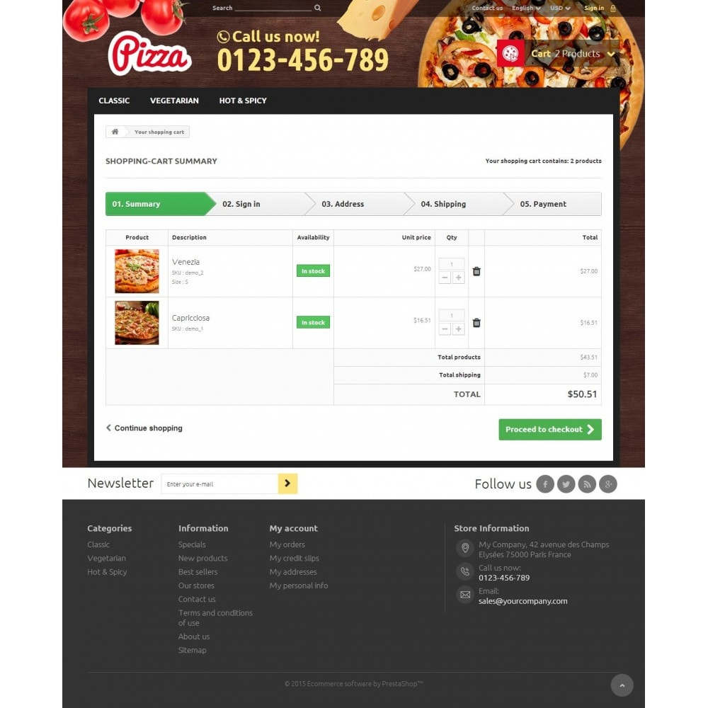 theme - Alimentation & Restauration - Pizza - 8