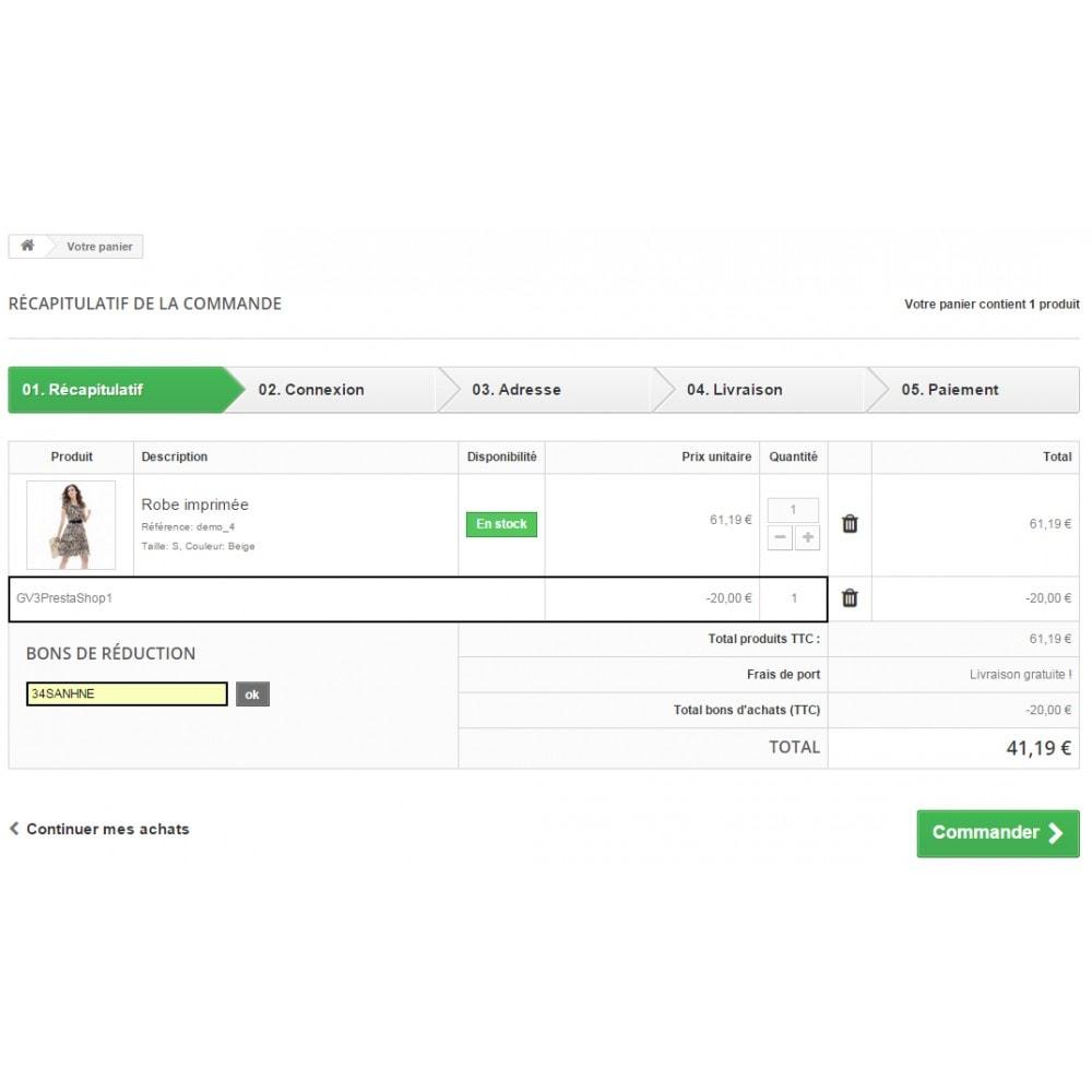 module - Fidélisation & Parrainage - Fidélisation - Bons de réduction après achat - 7