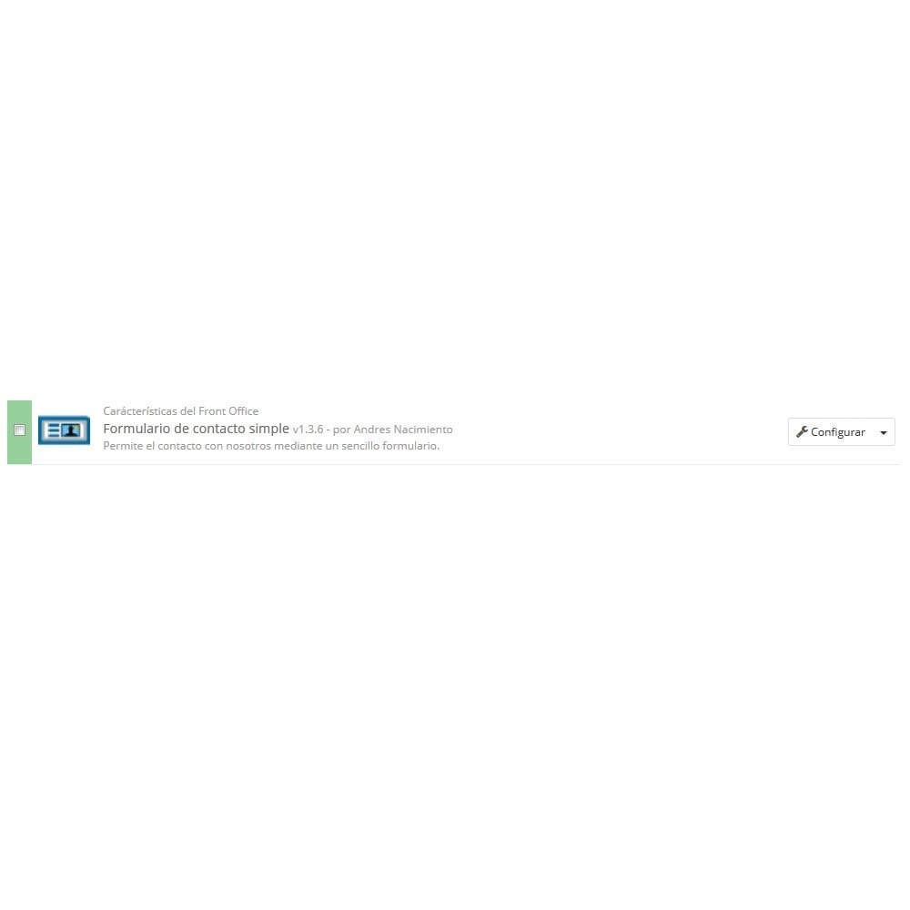 module - Formulario de contacto y Sondeos - Formulario de contacto simple - 3