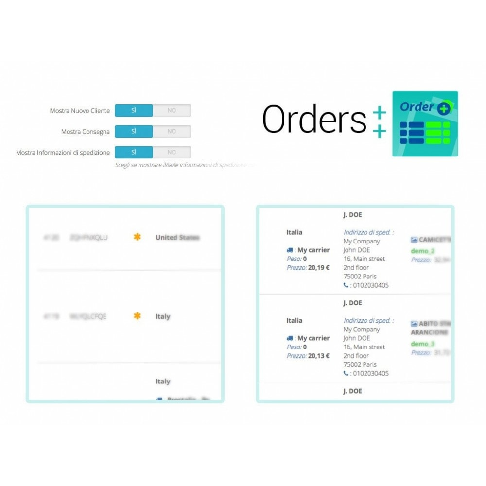 module - Auftragsabwicklung - Advanced Orders List with filters and special features - 8
