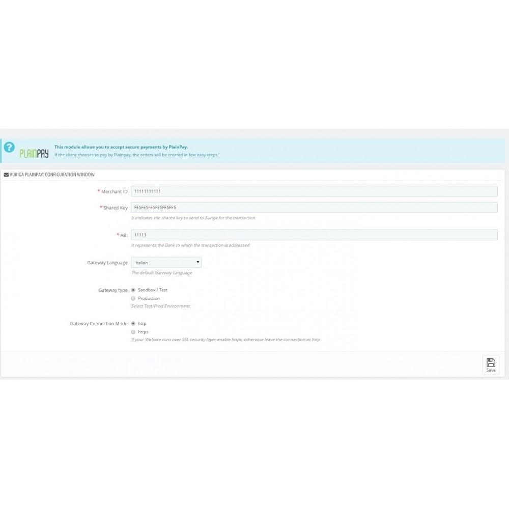 module - Pagamento con Carta di Credito o Wallet - Auriga PlainPay - Soluzione facile di Pagamento - 1