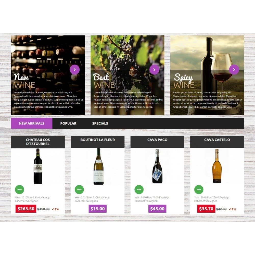 theme - Getränke & Tabak - Wine Store 1.6 Responsive - 4