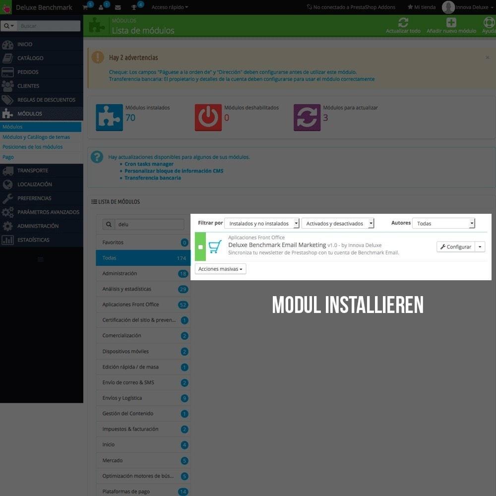 module - E-Mails & Benachrichtigungen - Benchmark Mail marketing Integration - 2