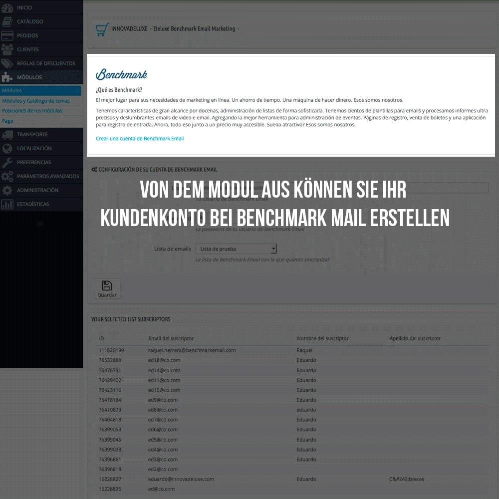 module - E-Mails & Benachrichtigungen - Benchmark Mail marketing Integration - 3