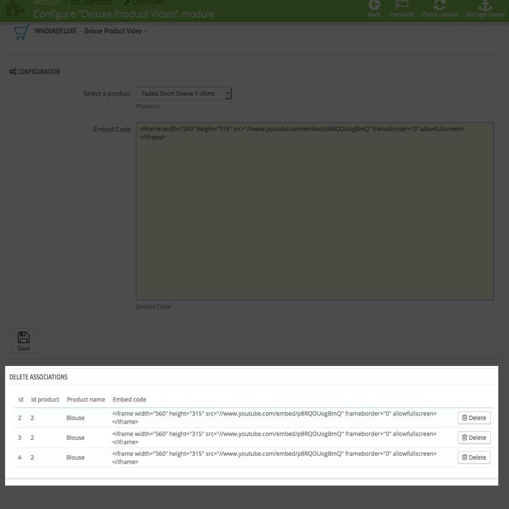 module - Videos & Musik - Videos (Youtube – Vimeo) in der Produktregisterkarte - 4