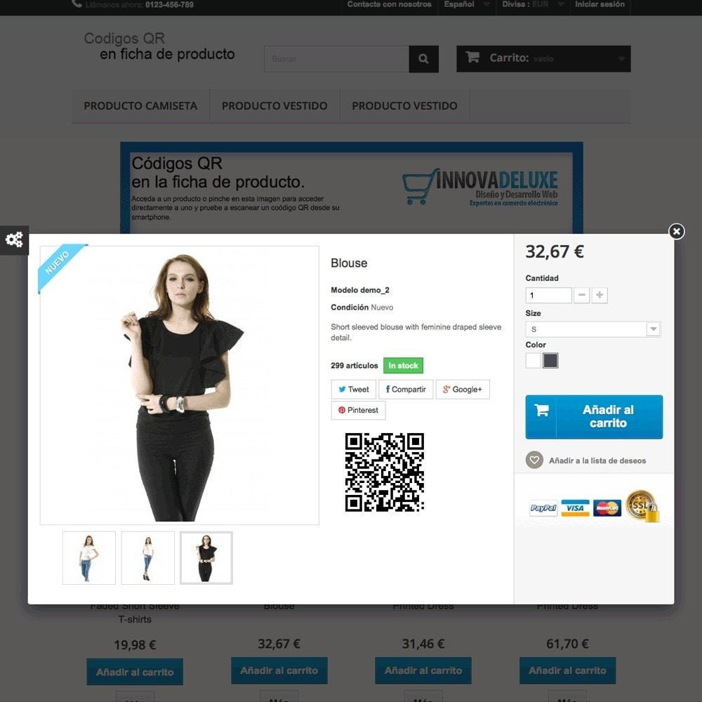 module - Mobile - QR Code on product page (BIDI) - 2