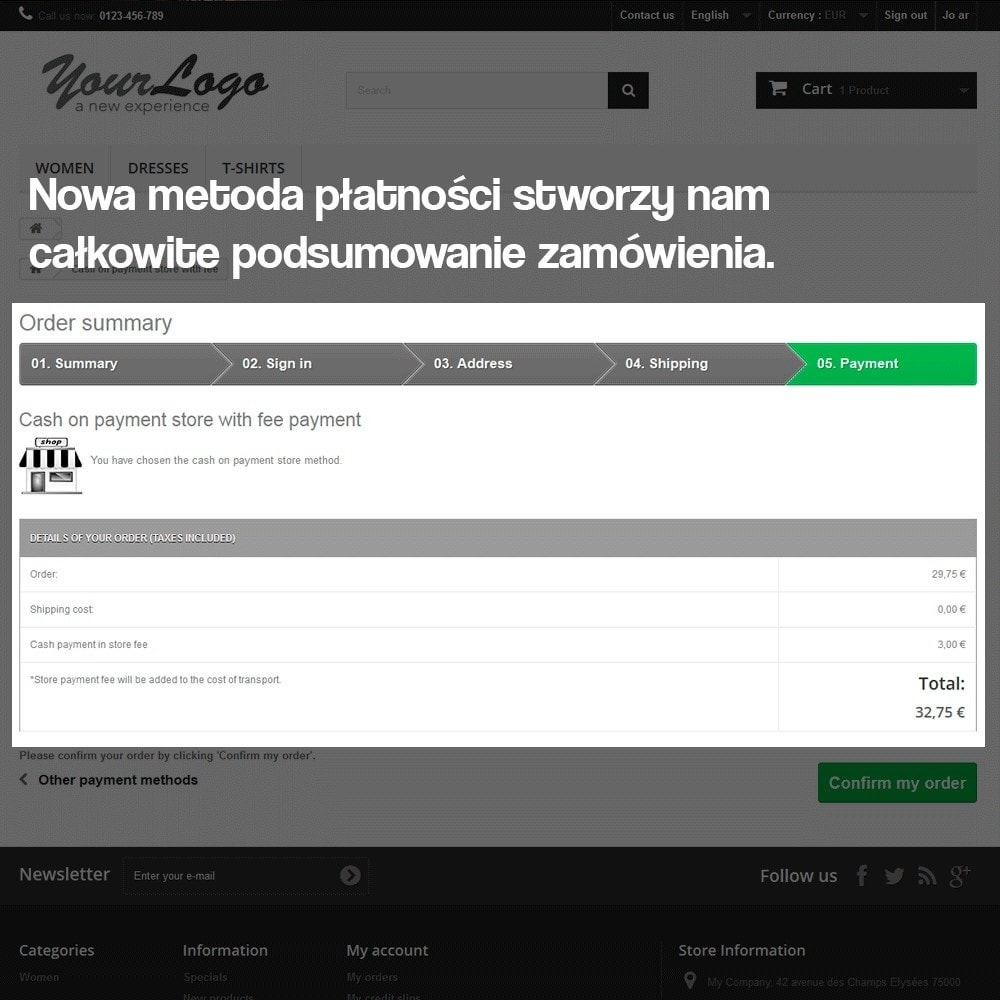 module - Płatność w sklepie - Płatność w sklepie stacjonarnym (z ewentualną dopłatą) - 8