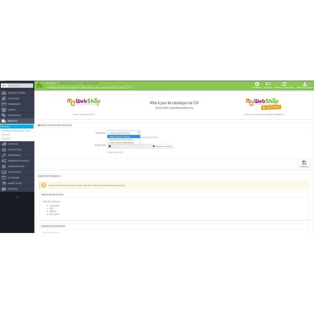 module - Import & Export de données - Opérations sur vos produits via CSV - 1