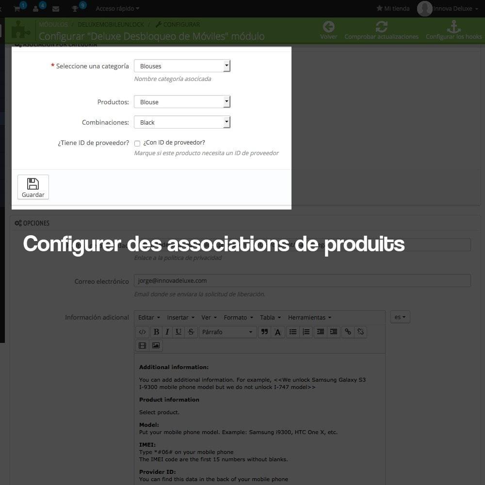 module - Formulaires de Contact & Sondages - Système de déblocage d'appareils mobiles - 3