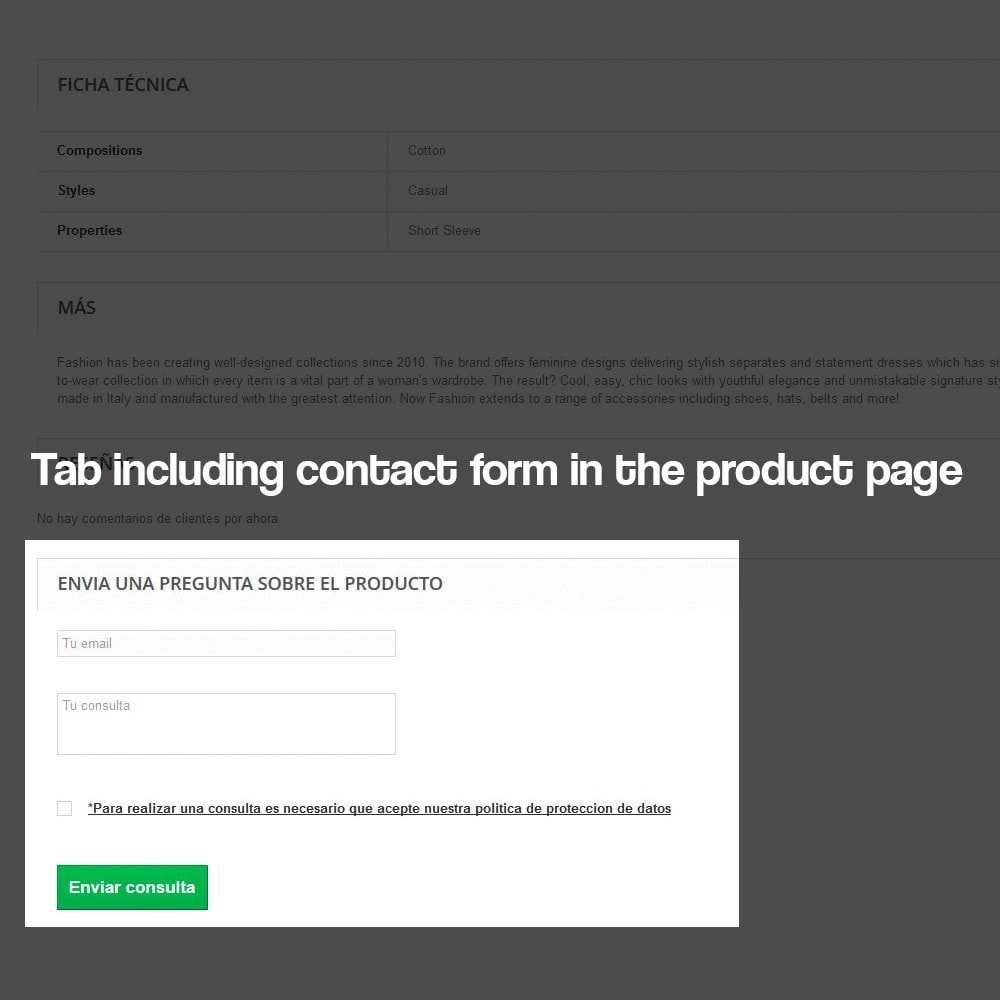 module - Legal - Contact form from the Product Sheet - 4