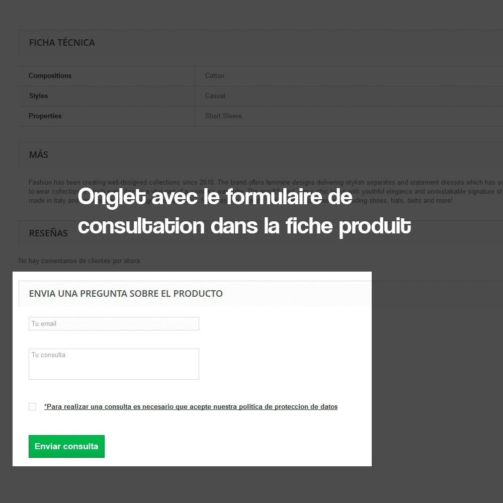 module - Législation - Formulaire de contact de la fiche produit - 4