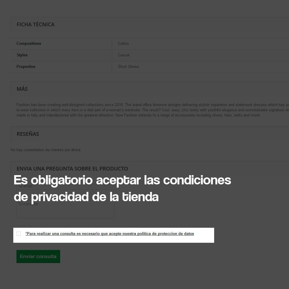 module - Marco Legal (Ley Europea) - Consulta desde Ficha de Producto (con LOPD) - 5