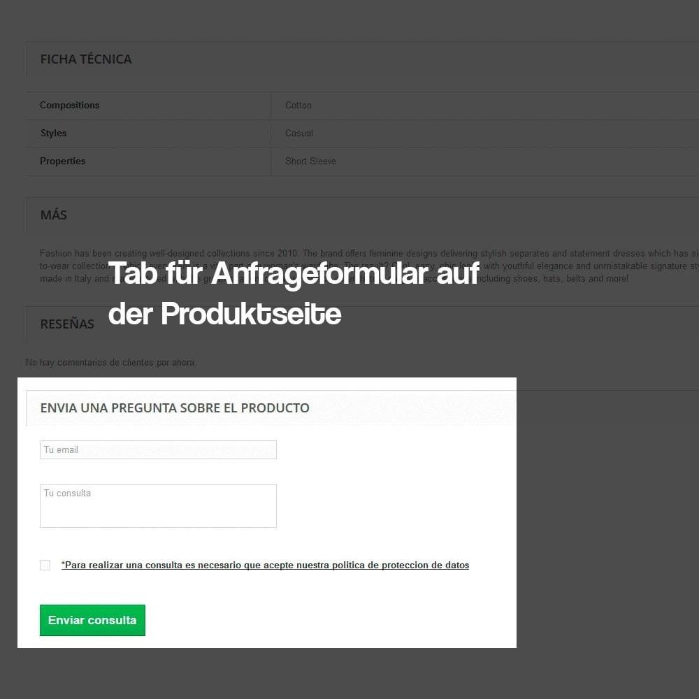 module - Rechtssicherheit - Anfragen ab der Produktseite (Entspricht GDPR) - 3