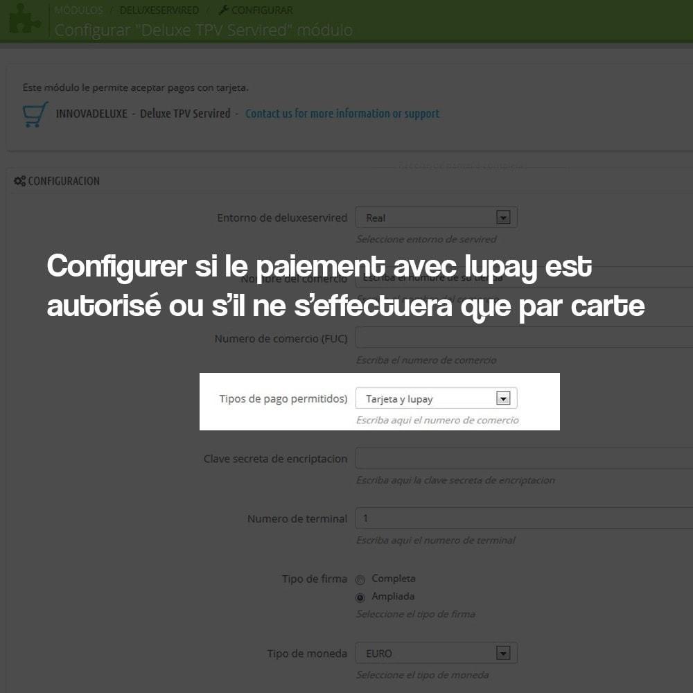module - Paiement par Carte ou Wallet - Paiement par Carte via TPV virtuel (REDSYS SHA256) - 4
