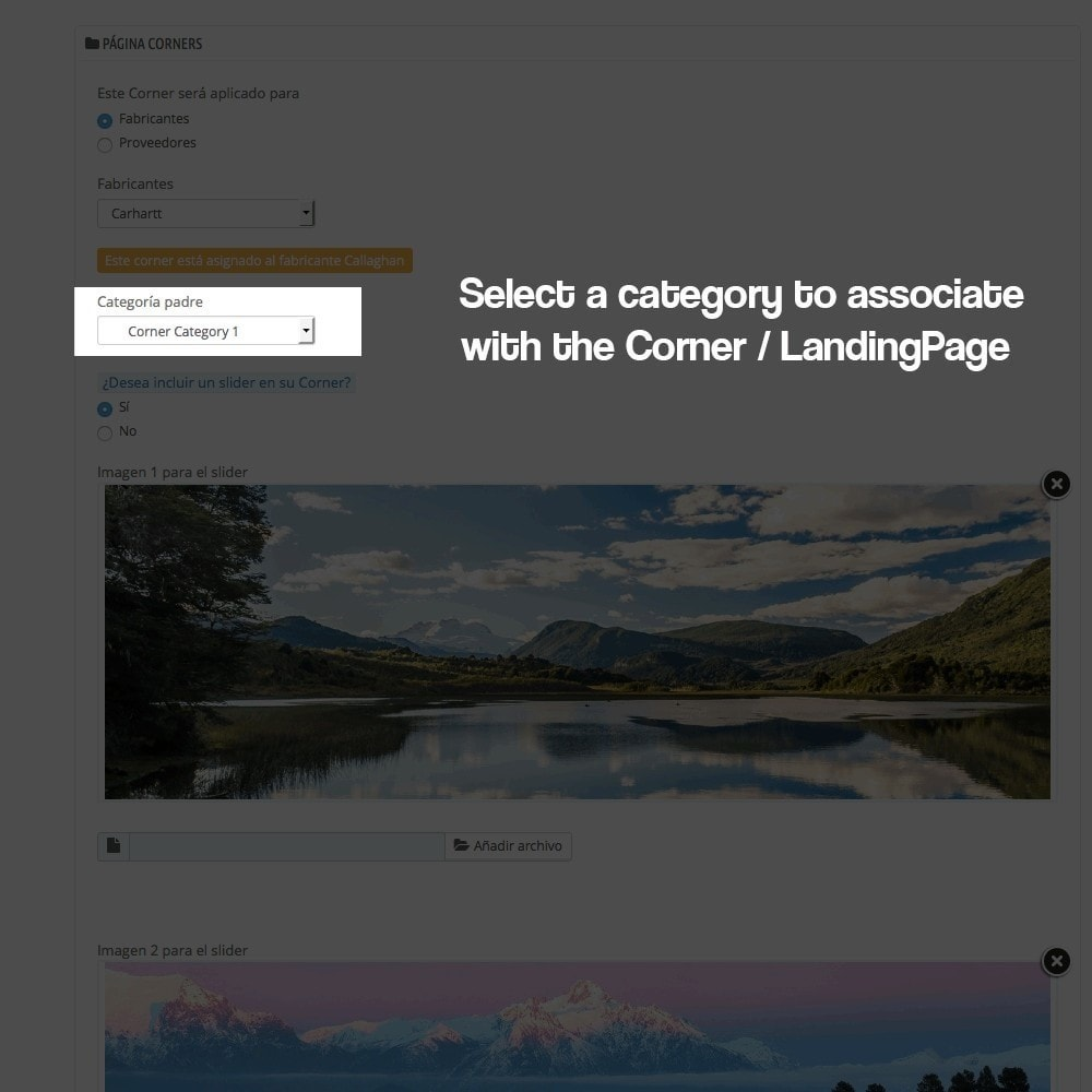 module - SEO - Landing pages, cornes or microsites creator - 7
