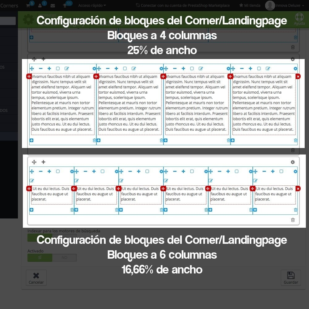 module - SEO (Posicionamiento en buscadores) - Creador de landing pages, cornes o microsites - 13
